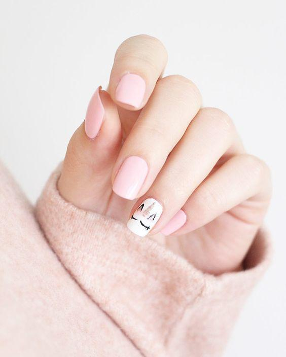 Cute pink nails; pink arcylic nails; almond nails; gel nails; glitter pink nails; matte pink nails; ombre nails.