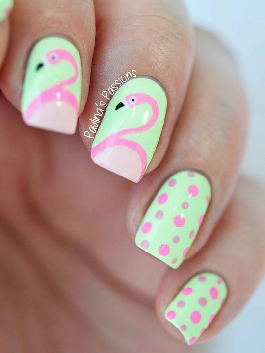 53 Tropical Flamingo Nail Art Ideas - Page 10 of 53 - Kornelia Beauty