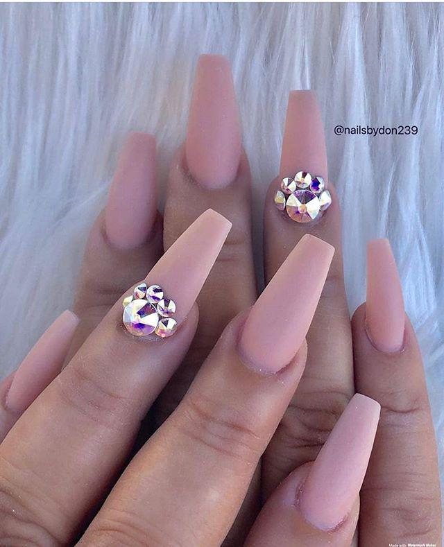 38 Wonderful pink Nail Art Design Ideas nails;pink nails;pink glitter nails;pink nail ideas;nails instagram;beautiful nails;nail ideas;nail design ideas;glitter nails;night out nails;summer nails;pearl nails;natural nails;glitter nails;pastel nails