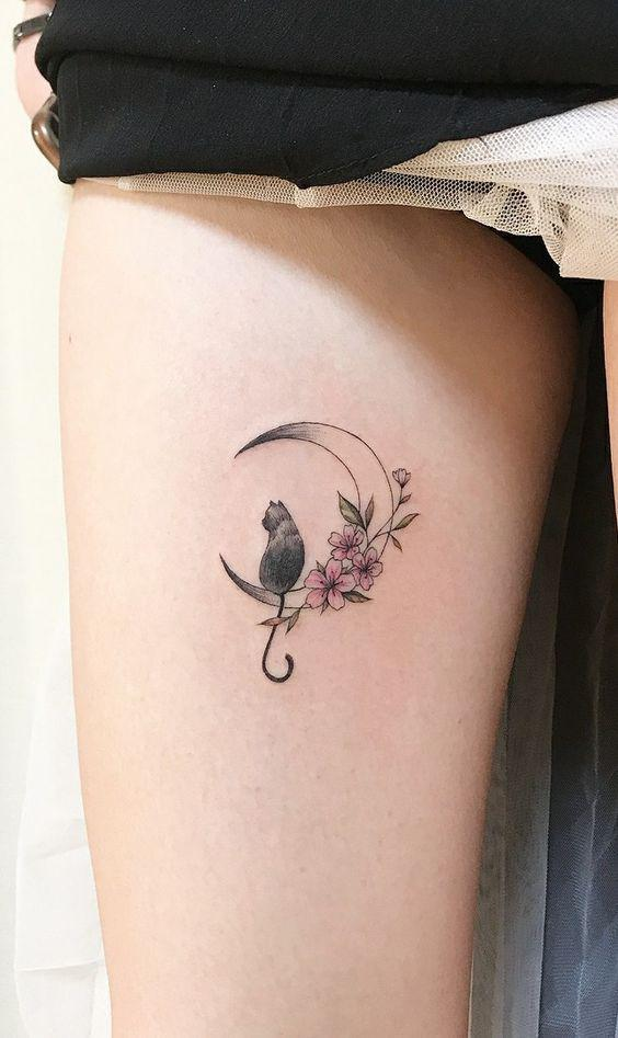 35 Gorgeous Moon Tattoo Designs That You Never Want To Miss! - Page 11 of 35 - GetbestIdea