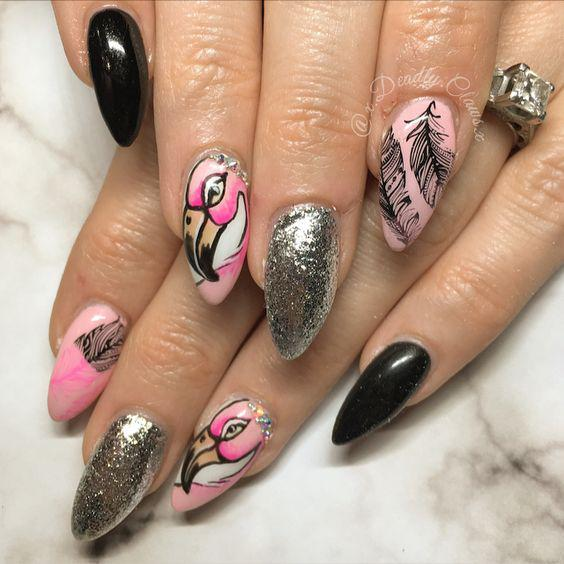53 Tropical Flamingo Nail Art Ideas - Page 8 of 53 - Kornelia Beauty