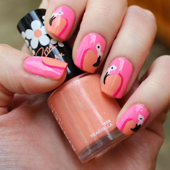 53 Tropical Flamingo Nail Art Ideas - Page 35 of 53 - Kornelia Beauty