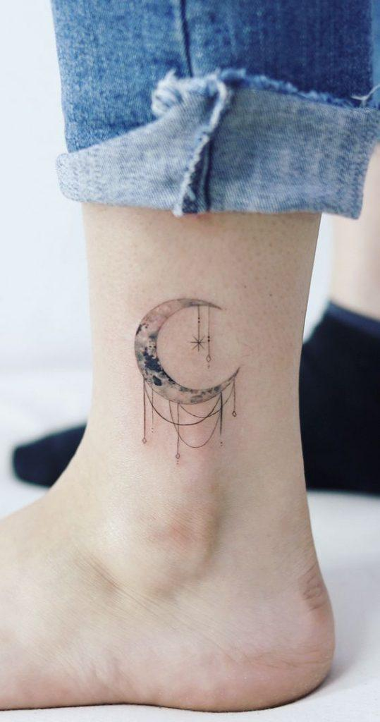 35 Gorgeous Moon Tattoo Designs That You Never Want To Miss! - Page 35 of 35 - GetbestIdea