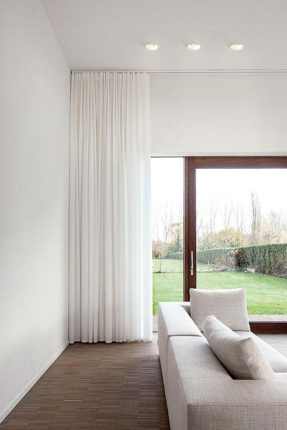 31 Great Minimalist Curtains Ideas for Your Modern Living Room! - Page 5 of 7 - Vivelavi Blog
