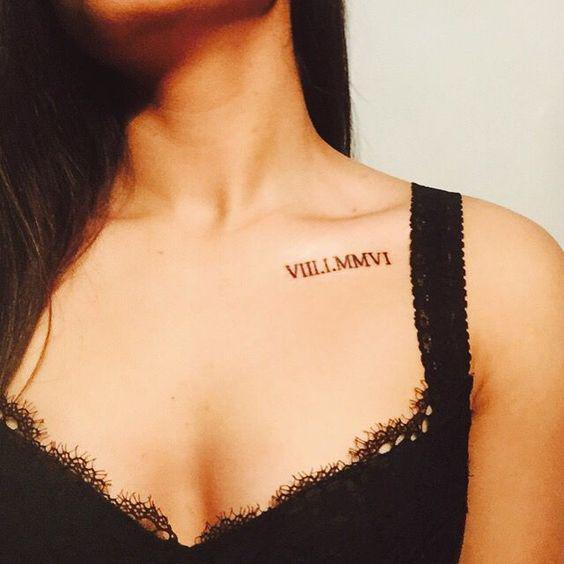 42 Beautiful Collar Bone Tattoos Designs and Ideas of 2019 collar bone tattoos, shoulder tattoos, collar bone tattoo quotes