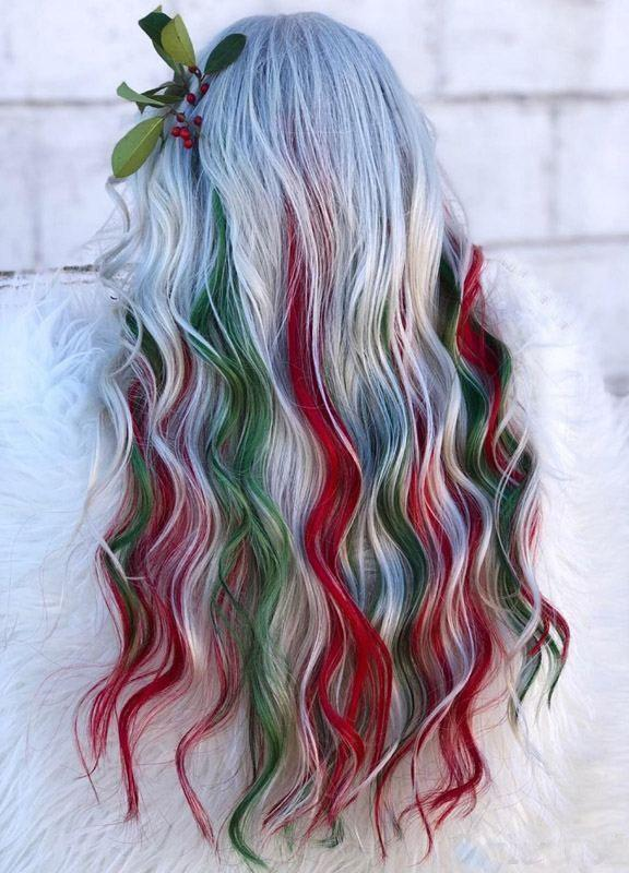 Christmas Hair Hair Trends Christmas Braided Hairstyles Hair Color Styles Christmas Themed Hair Holiday Hair Party Hairstyles Imtopic
