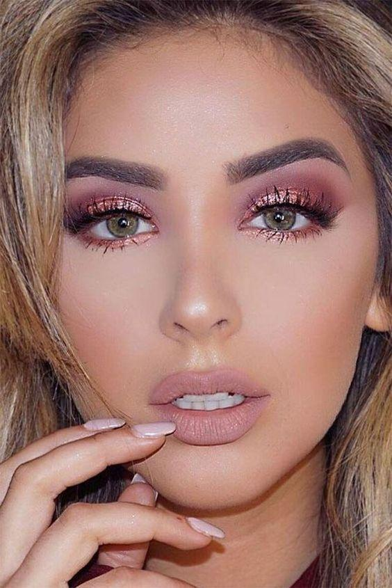 32 Gorgeous Rose Gold Makeup Ideas That Make You Glow! - Page 9 of 32 - GetbestIdea