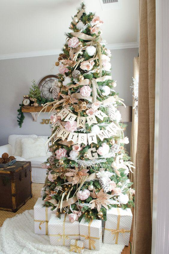 36 Rose and Gold Christmas Tree Decorating Ideas 2018 - Page 36 of 36 - Kornelia Beauty