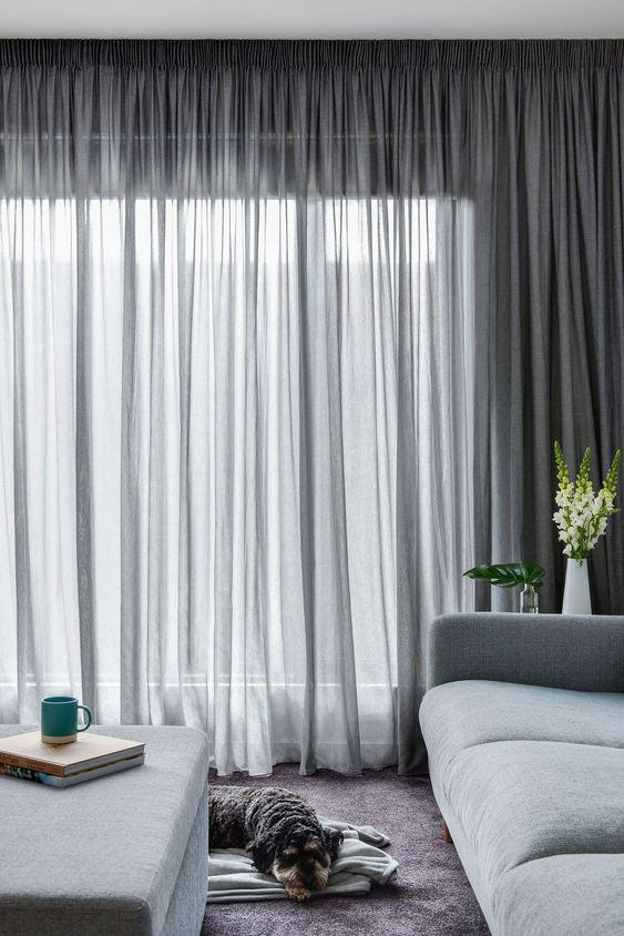 31 Great Minimalist Curtains Ideas for Your Modern Living Room! - Page 6 of 7 - Vivelavi Blog
