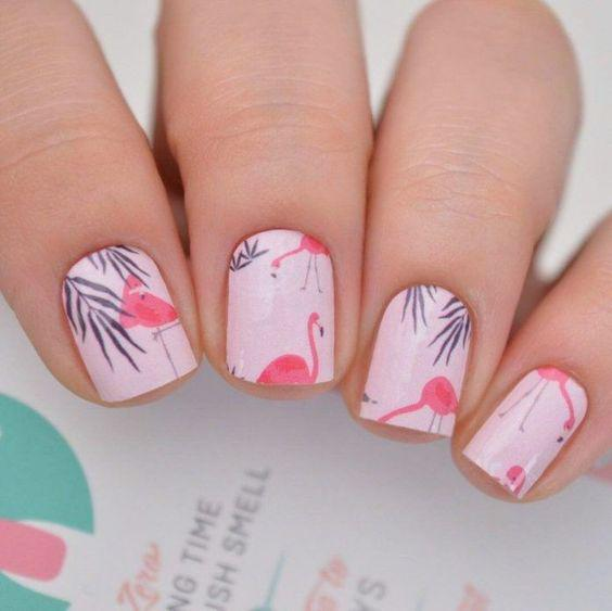 53 Tropical Flamingo Nail Art Ideas - Page 26 of 53 - Kornelia Beauty