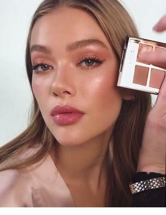 32 Gorgeous Rose Gold Makeup Ideas That Make You Glow! - Page 3 of 32 - GetbestIdea