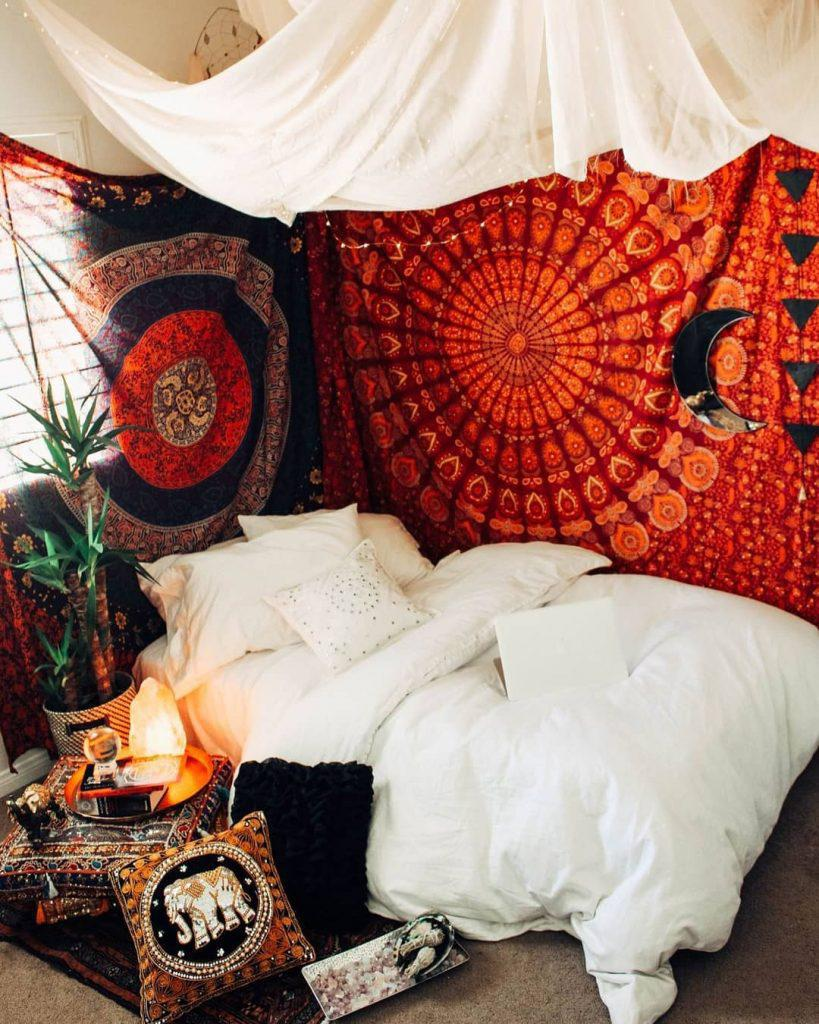33 Luxurious Bohemian Style Room Decor Ideas You Will Love! - Page 6 of 7 - Vivelavi Blog