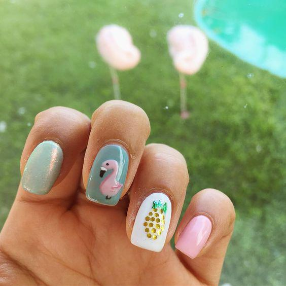 53 Tropical Flamingo Nail Art Ideas - Page 30 of 53 - Kornelia Beauty