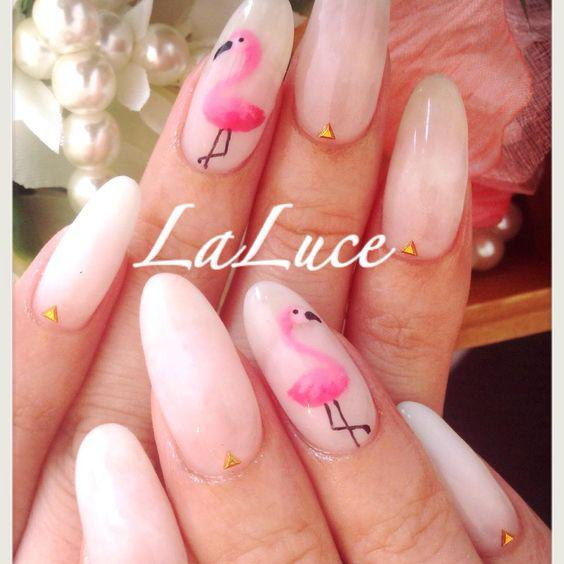 53 Tropical Flamingo Nail Art Ideas - Page 19 of 53 - Kornelia Beauty