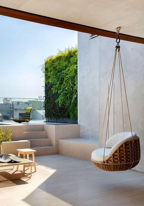 Hanging Chair Swing Home Decoration Balcony Design Living Room Design Balcony Design Inspiration Home Decoration Ideas Leisure Hanging Chairs Leisure Swings Simple Swing Imtopic