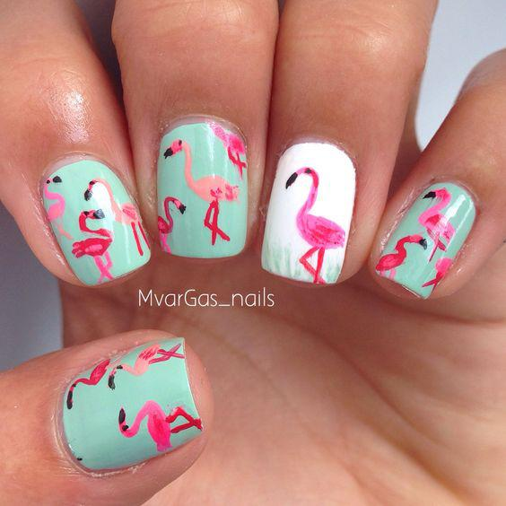 53 Tropical Flamingo Nail Art Ideas - Page 14 of 53 - Kornelia Beauty