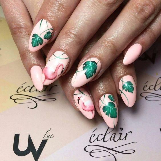 53 Tropical Flamingo Nail Art Ideas - Page 9 of 53 - Kornelia Beauty