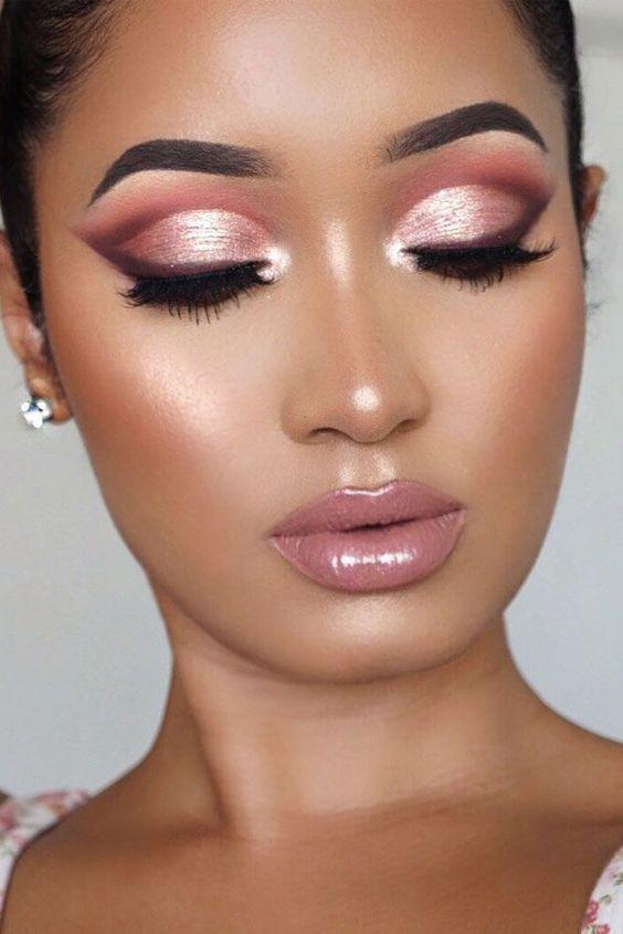 32 Gorgeous Rose Gold Makeup Ideas That Make You Glow! - Page 7 of 32 - GetbestIdea