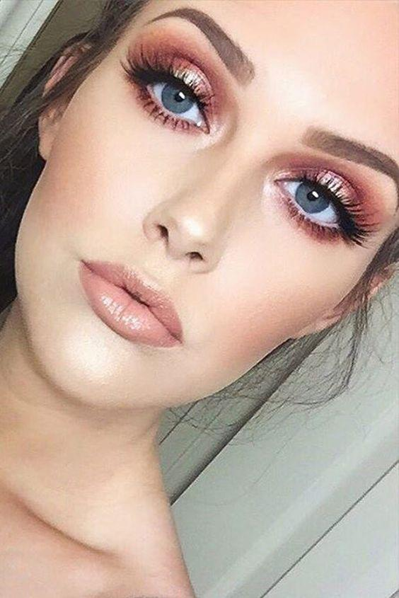 32 Gorgeous Rose Gold Makeup Ideas That Make You Glow! - Page 8 of 32 - GetbestIdea