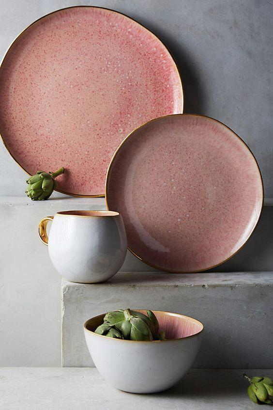 chic tableware, creative DIY tableware, vintage plates. DIY