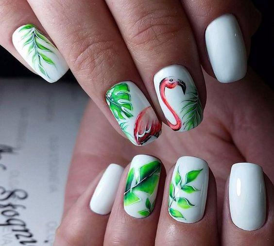 53 Tropical Flamingo Nail Art Ideas - Page 25 of 53 - Kornelia Beauty