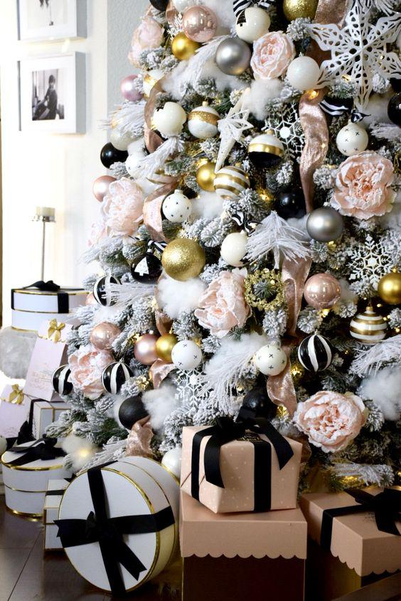 36 Rose and Gold Christmas Tree Decorating Ideas 2018 - Page 18 of 36 - Kornelia Beauty
