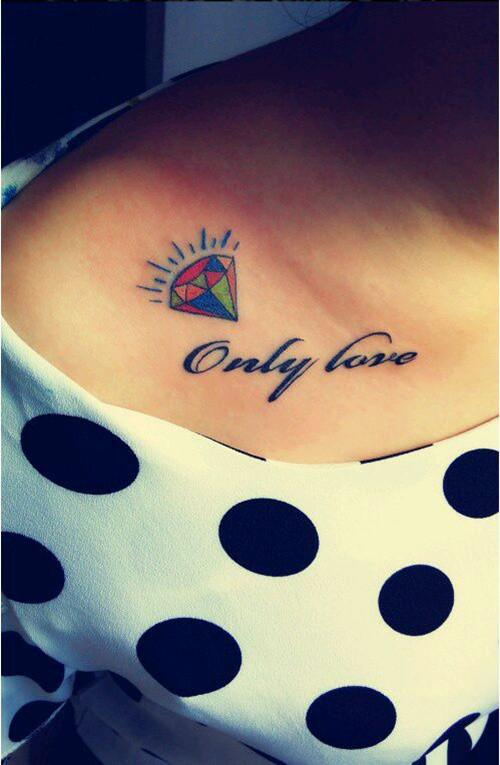 Beautiful girl clavicle tattoo #tattoo #girltattoo #clavicletattoo