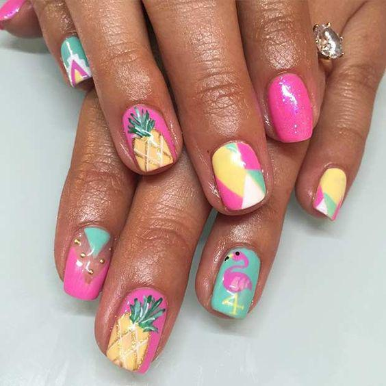 53 Tropical Flamingo Nail Art Ideas - Page 24 of 53 - Kornelia Beauty