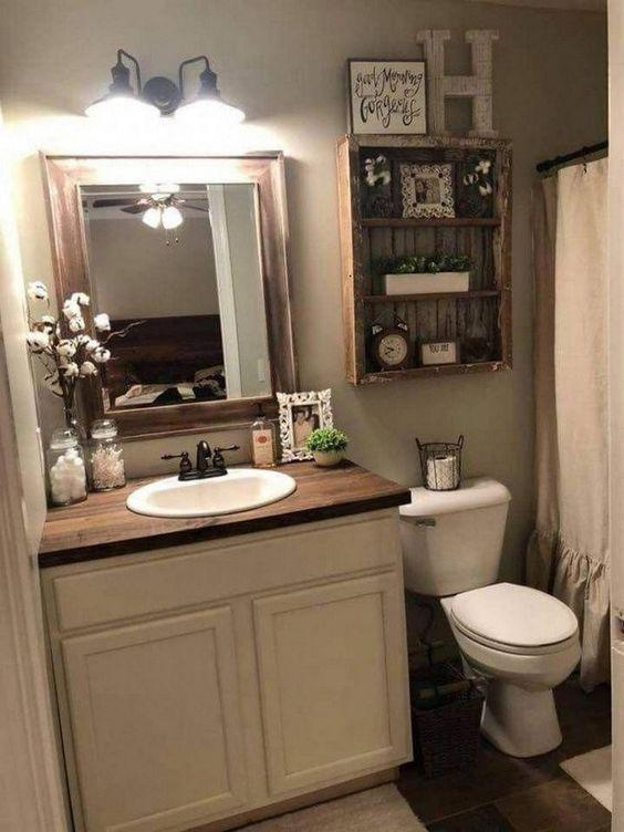 35 Brilliant Inspirational Decor Ideas for Your Small Bathroom - Page 6 of 7 - Vivelavi Blog
