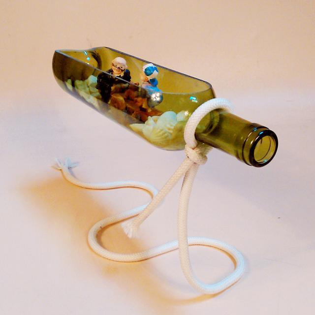 DIY creative home suspension beer bottle decoration, micro landscape in the bottle - LoveIn Home