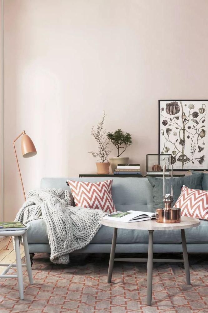 Pink Living Room Design - LoveIn Home