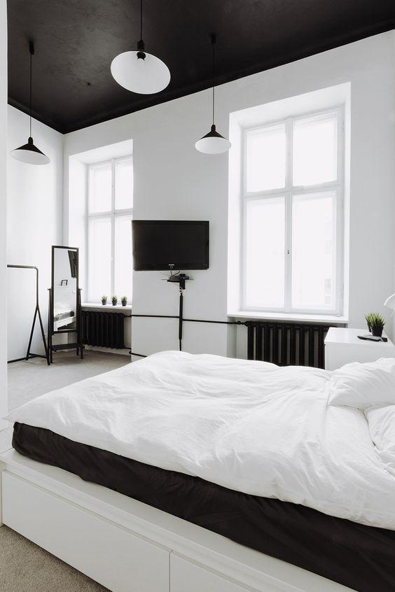 35 Inspiring Black and White Master Bedroom Color Ideas - Page 4 of 35 - VimDecor