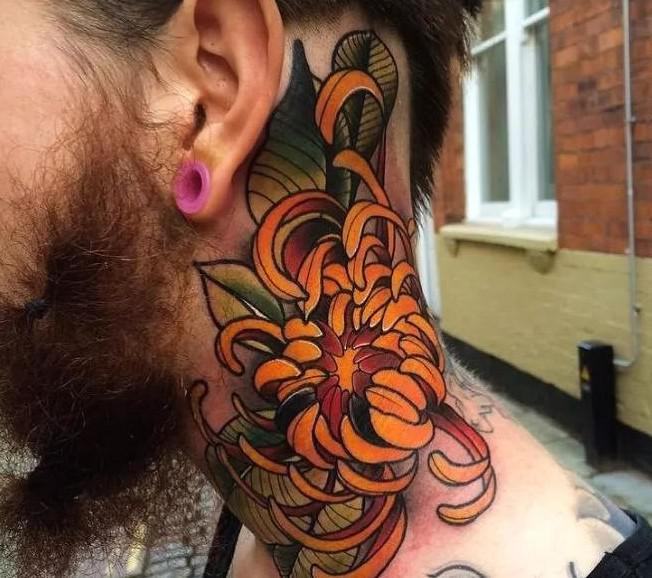 33 creative neck tattoos, let's express ourselves with tattoos! - loolvv