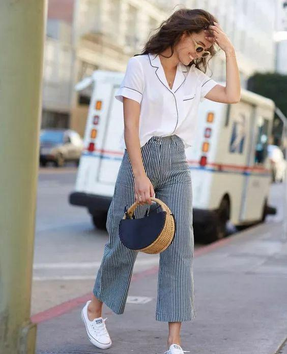This year's most popular nine pants + flat shoes combination - zzzzllee