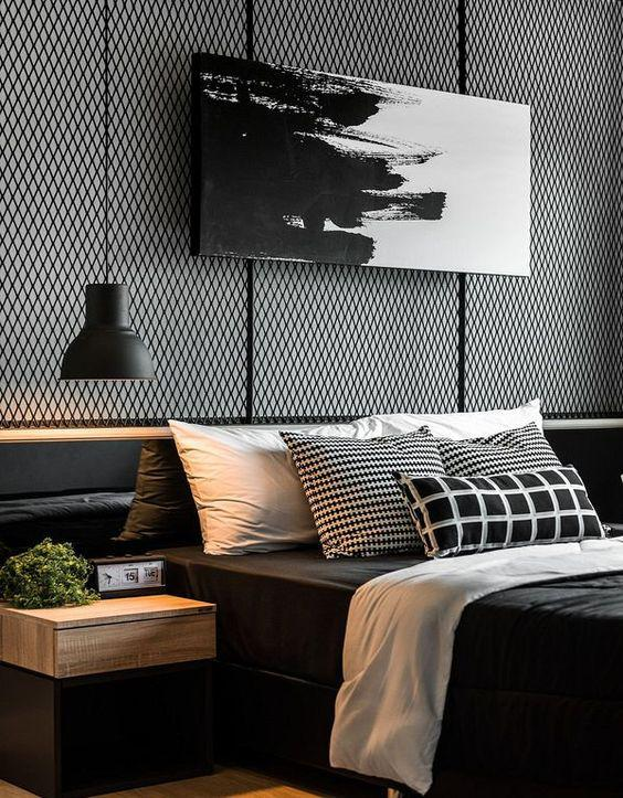 35 Inspiring Black and White Master Bedroom Color Ideas - Page 35 of 35 - VimDecor