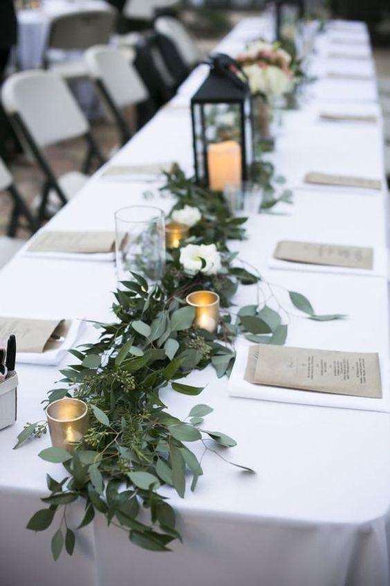 40 SIMPLE ROMANTIC TABLE DECORATIONS FOR RURAL OUTDOOR WEDDINGS - yeslip