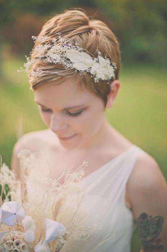 35+ Stylish Wedding Hairstyles for Short Hair in 2019 - Page 26 of 36 - VimTopic