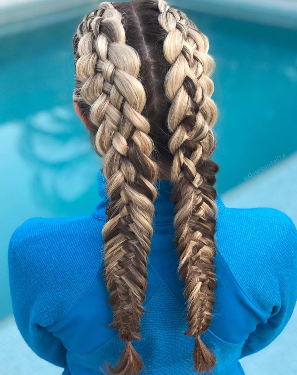 50 Trendy Double Braid Hairstyle Ideas to Keep You Cool - Molitsy Blog