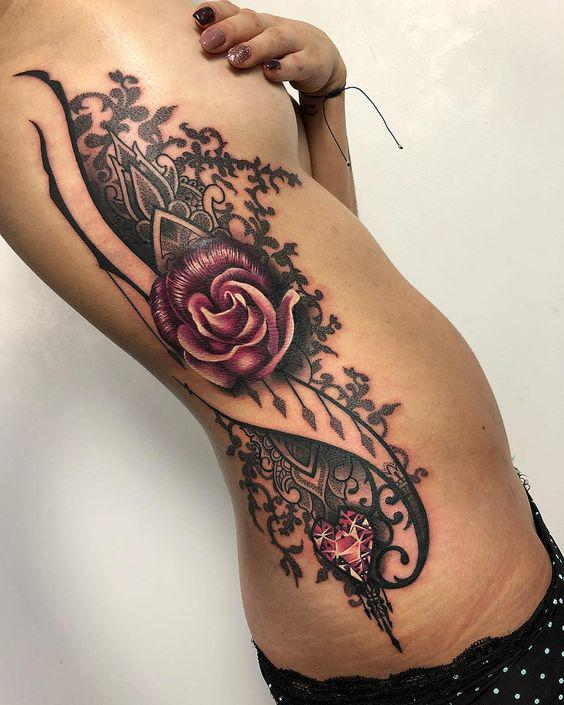 35 Charming And Irresistible flower Tattoos Designs - Page 14 of 35 - Liatsy Fashion