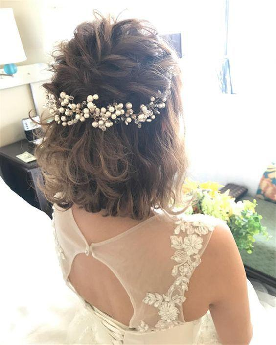 35+ Stylish Wedding Hairstyles for Short Hair in 2019 - Page 8 of 36 - VimTopic