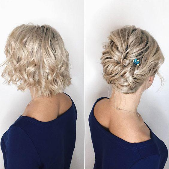 35+ Stylish Wedding Hairstyles for Short Hair in 2019 - Page 7 of 36 - VimTopic