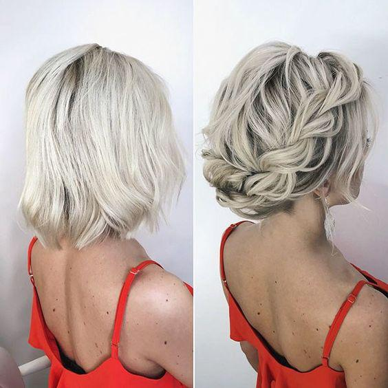35+ Stylish Wedding Hairstyles for Short Hair in 2019 - Page 3 of 36 - VimTopic
