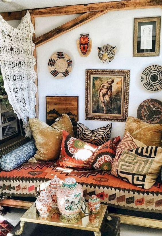 35 Bohemian Interior Home Design Trends and Ideas - Molitsy Blog