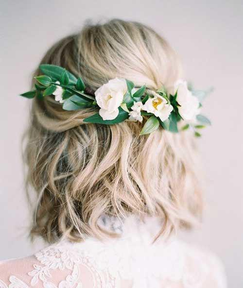 35+ Stylish Wedding Hairstyles for Short Hair in 2019 - Page 23 of 36 - VimTopic