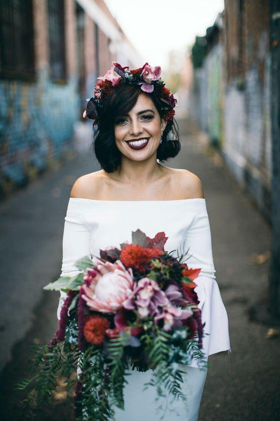 35+ Stylish Wedding Hairstyles for Short Hair in 2019 - Page 32 of 36 - VimTopic