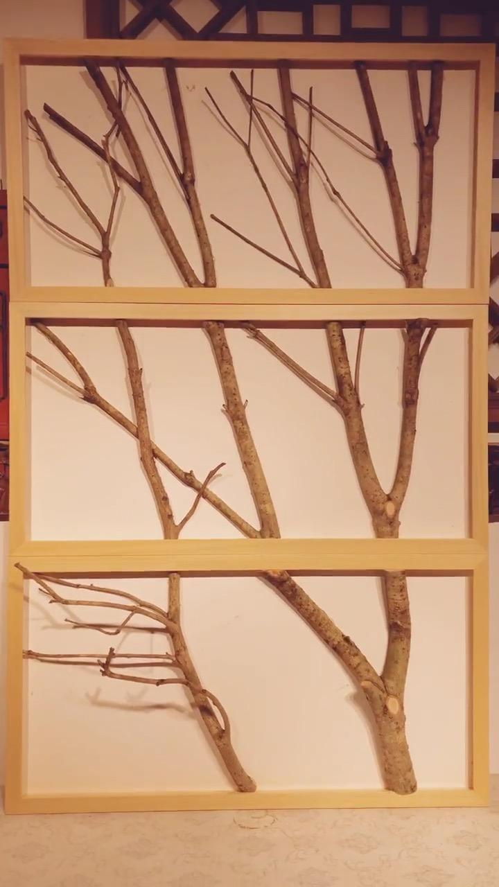 DIY Framed Tree Branches - Wall Decorating Ideas - SoBlog