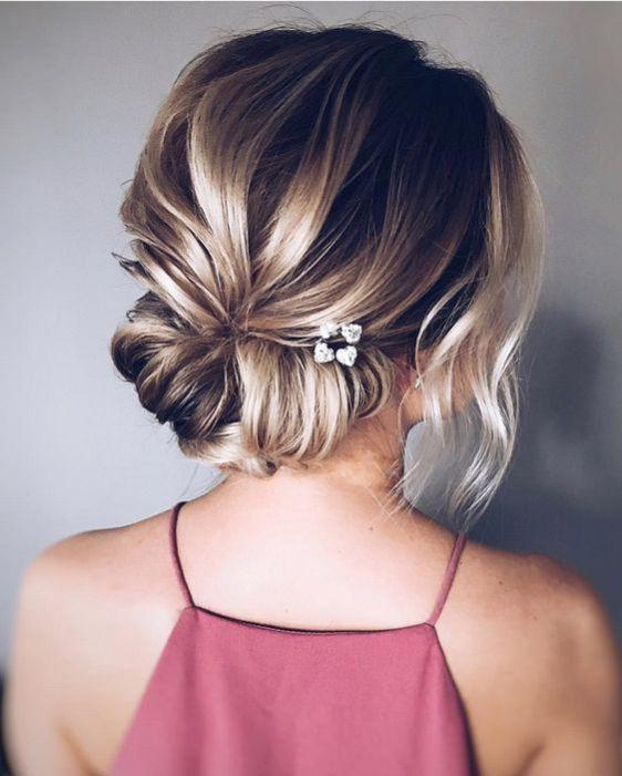 35+ Stylish Wedding Hairstyles for Short Hair in 2019 - Page 30 of 36 - VimTopic