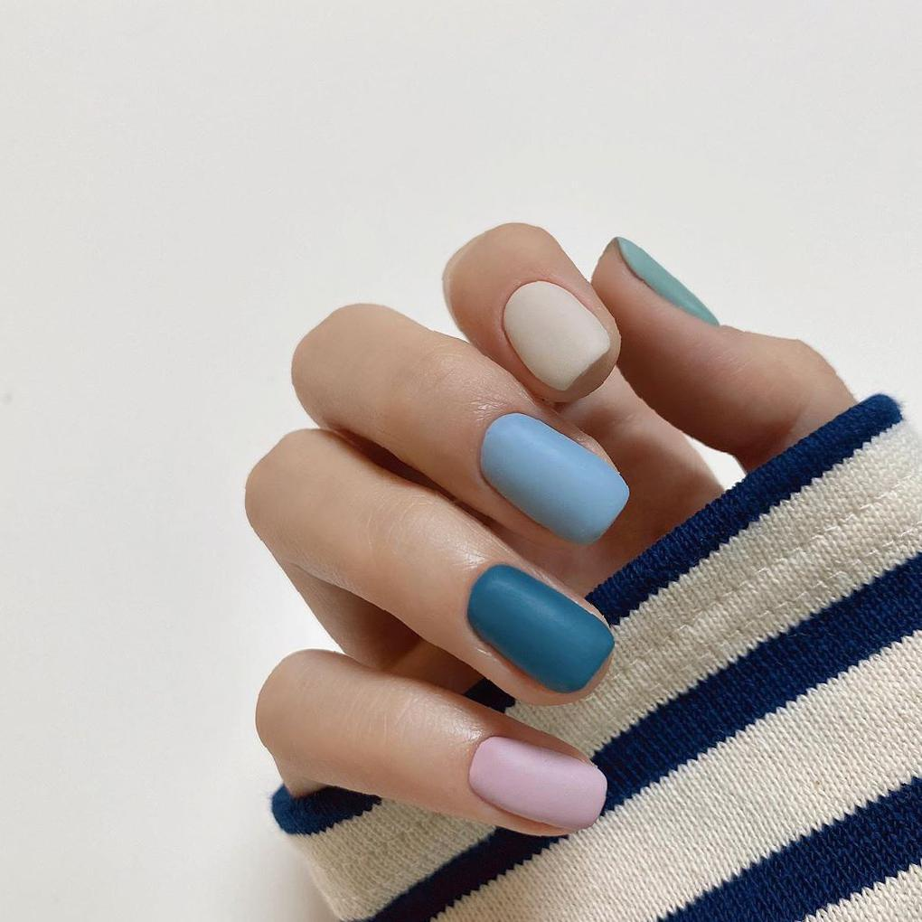 Fashionable Square Nail Art Idea Images and Designs - Insville